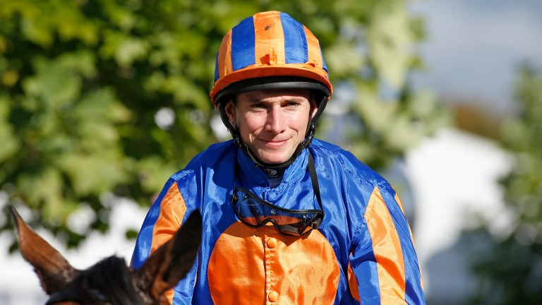 Ryan Moore: on the mark with a double at Yarmouth