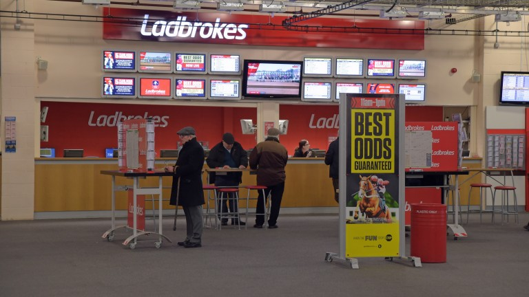 Ladbrokes: lights are on but nobody can have a bet at Doncaster