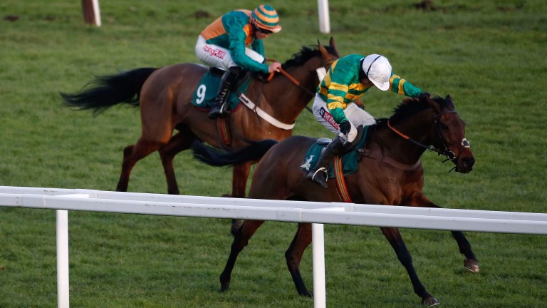 Unowhatimeanharry stays on too strongly for Cole Harden to win the Cleeve Hurdle at Cheltenham