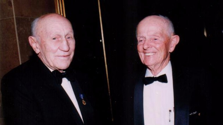 Britt, together with Scobie Breasley (left), did mucch to boost the international reputation of Australian jockeys