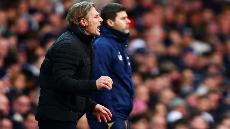 Wycombe boss Gareth Ainsworth issues instructions at Spurs