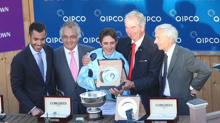The winning connections following Almanzor's victory in last season's Qipco Irish Champion Stakes