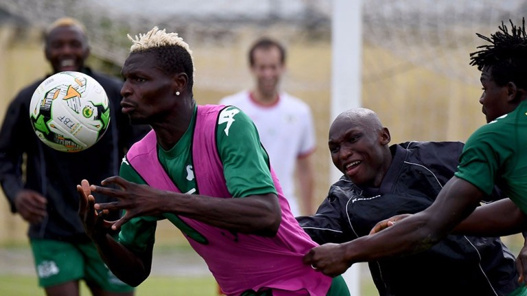 Burkina Faso's Aristide Bance scored against Tunisia