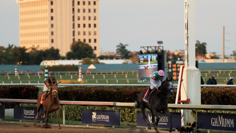 Arrogate's Pegasus World Cup-winning time has been revised; the new mark means he broke the track record at Gulfstream Park