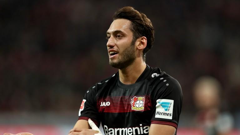 Hakan Calhanoglu of Bayer Leverkusen