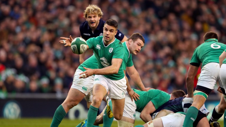 Ireland scrum-half Conor Murray fires a pass