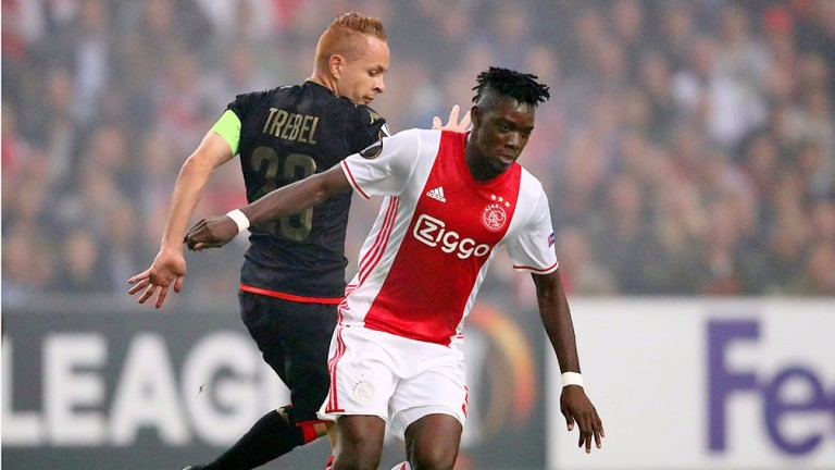 Burkina Faso's Bertrand Traore (right) could cause Ghana serious problems