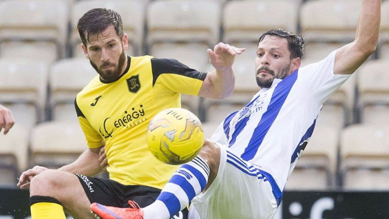 Livingston striker Liam Buchanan (left) has been in fine form this season