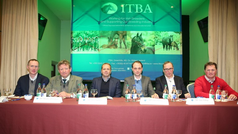 The panel at the ITBA national seminar in Clonmel included from left to right: Damian Burns, Mark Johnston, Ger Lyons, Ed Sackville, Joe Foley and Colin Bowe
