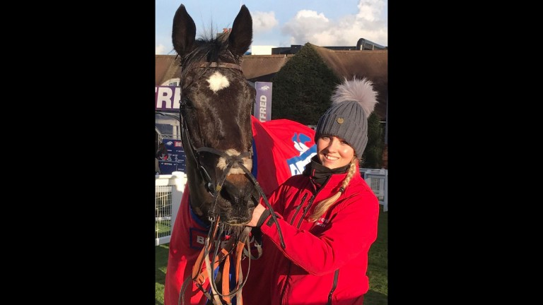 Lord Of The Island and Brodie Hampson after victory at Sandown on Saturday