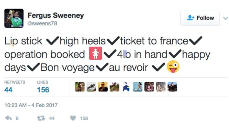 Fergus Sweeney tweet
