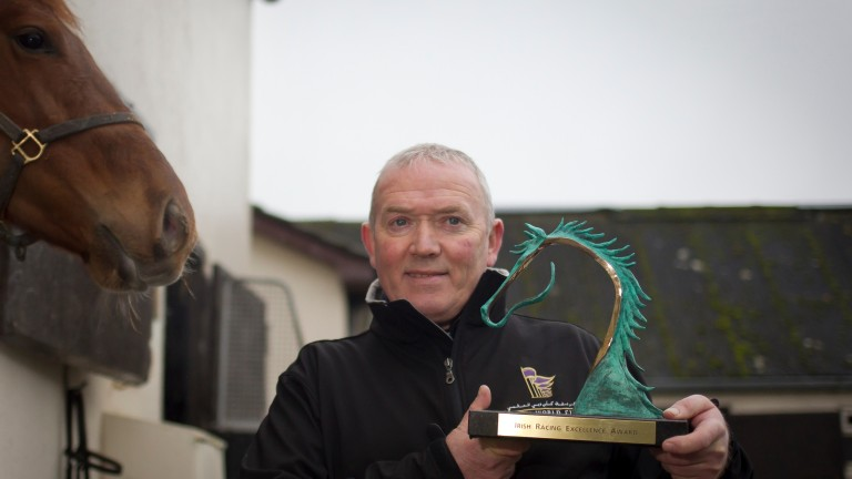 Jimmy 'Slim' O'Neill won the Irish racing excellence award last year