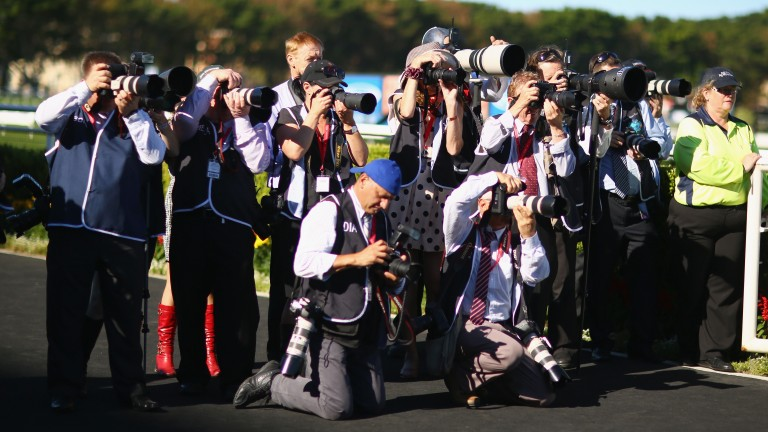 Photographers at Randwick on  Australian Derby Day. In October the Everest is sure to attract plenty of interest