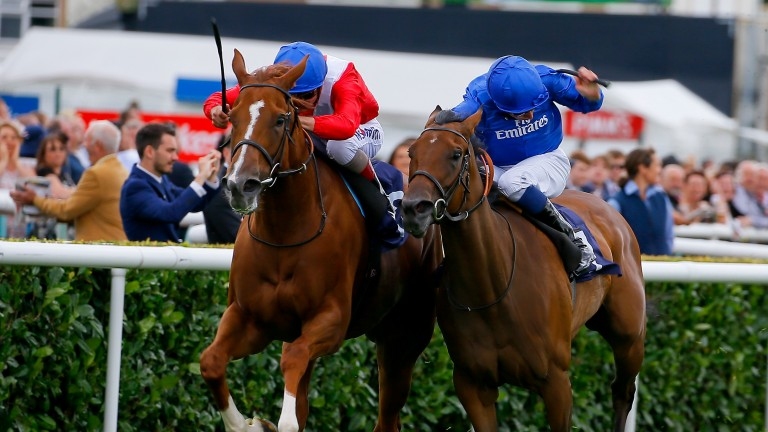 Mise En Rose (right) just loses out to Spangled in the Group 3 Sceptre Stakes at Doncaster last September