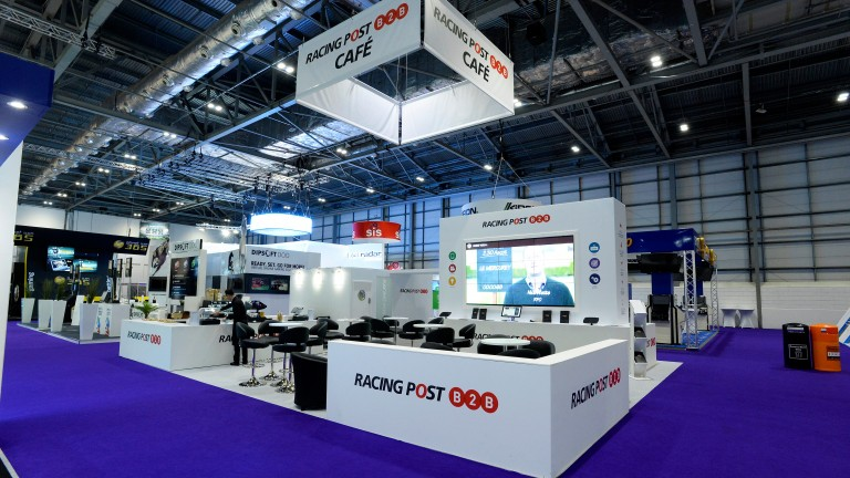 The Racing Post cafe at last year's Ice conference at ExCel