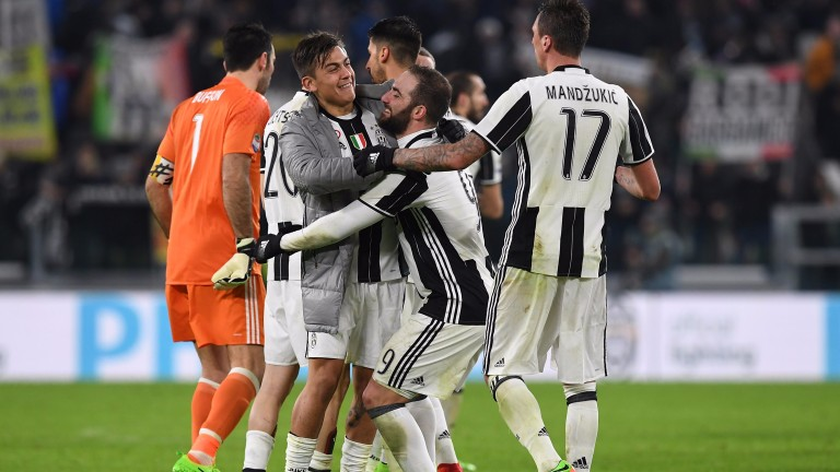 Juventus celebrate after beating Inter on Sunday