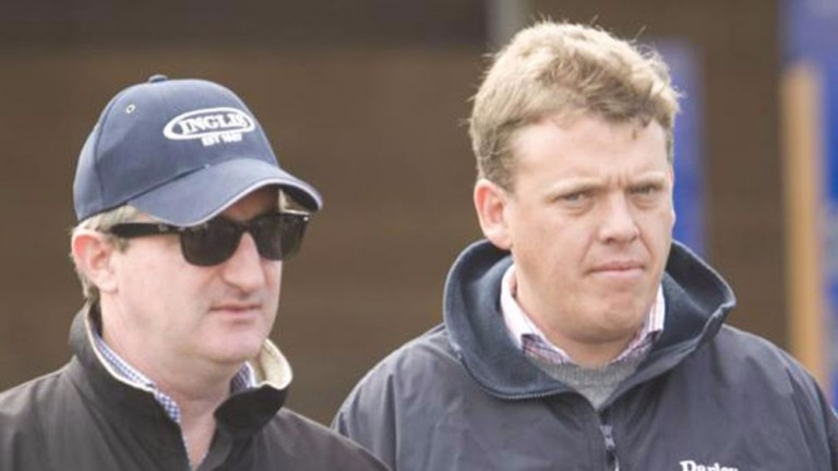 Olly Tait (right) with John Ferguson: family was inducted into the Australian racing hall of fame