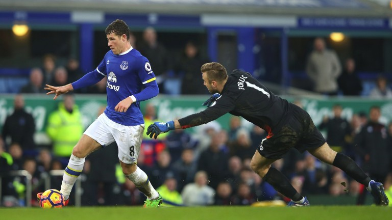 Everton's Ross Barkley scores against Bournemouth