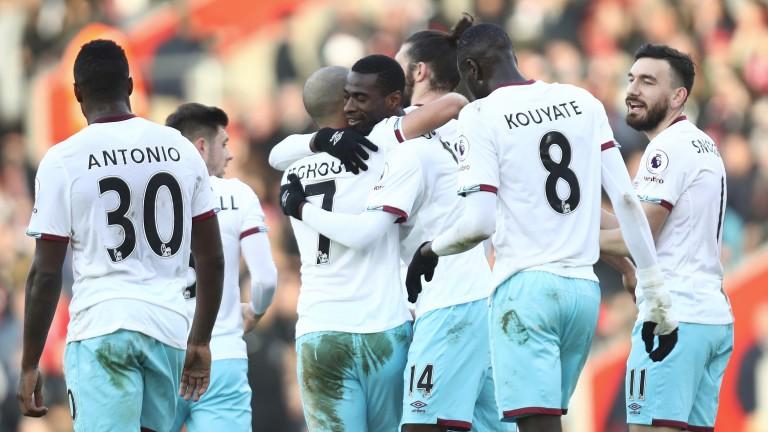 West Ham celebrate a goal