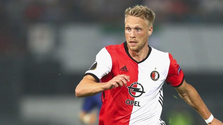 Feyenoord striker Nicolai Jorgensen