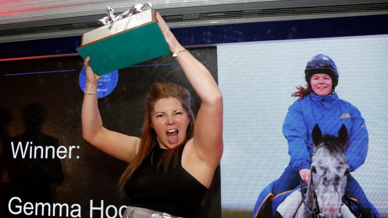 Gemma Hogg with last year's employee of the year award
