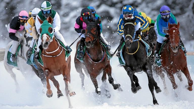 Runners at St Moritz
