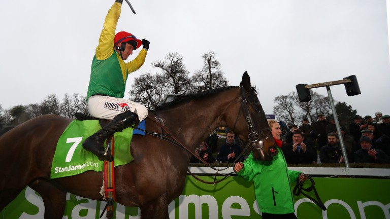 Sizing John and Robbie Power wins the Stan James Irish Gold Cup (Grade 1)Leopardstown Photo: Patrick McCann 12.02.2017