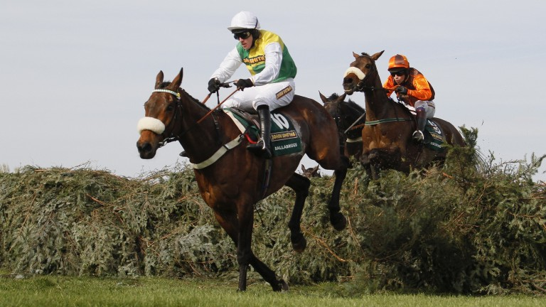 Ballabriggs clears the last on his way to victory in the 2011 Grand National
