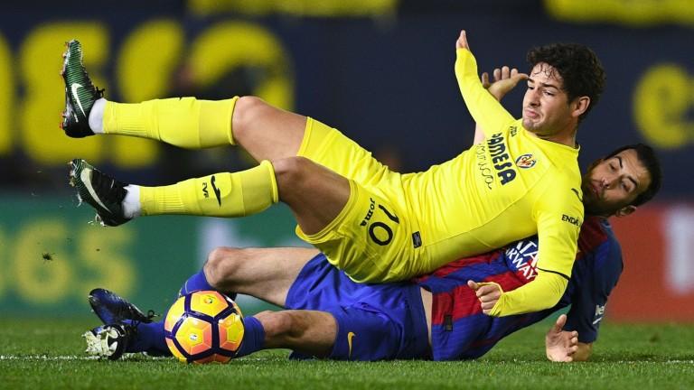 Barca's Sergio Busquets upends Villarreal's Alexandre Pato