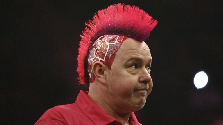 Peter Wright looks crestfallen during his defeat to Michael van Gerwen