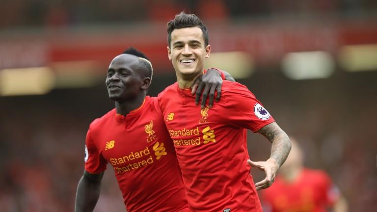 Liverpool's Sadio Mane and Philippe Coutinho