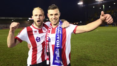 Bradley Wood (L) and Jack Muldoon (R) of Lincoln