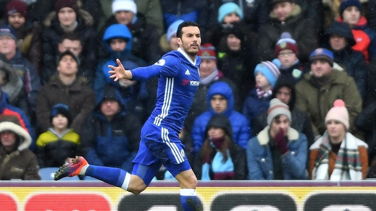 Chelsea winger Pedro scored for the Premier League leaders at Burnley last week