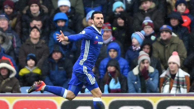 Chelsea winger Pedro scored for the Premier League leaders at Burnley last week