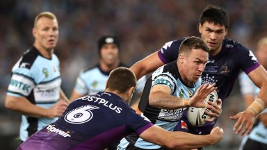 James Maloney, on the attack in the NRL Grand Final, pulls the strings for the Sharks