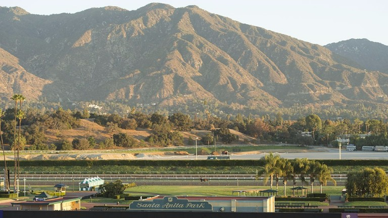 Santa Anita: conditions were settling down on Sunday