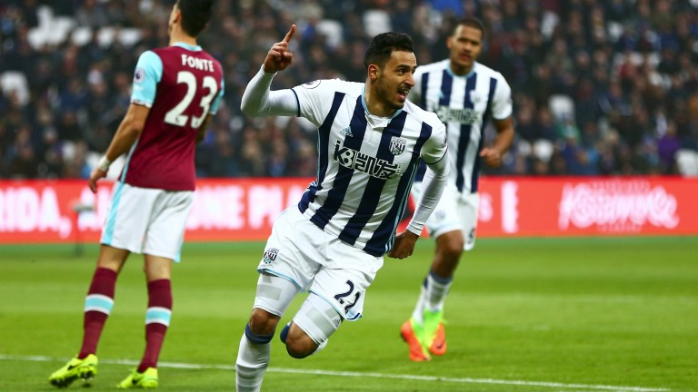 West Brom's Nacer Chadli scored early on at West Ham