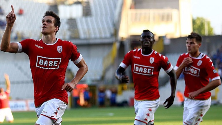 Goals have dried up for Caen's top-scorer Ivan Santini (left), pictured playing for Standard Liege