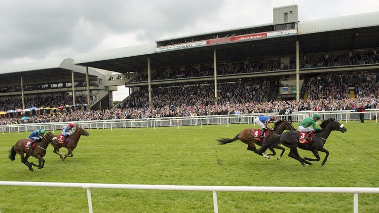 More than 18,000 were on course as Harzand won last year's Irish Derby