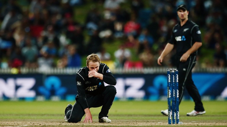 New Zealand skipper Kane Williamson pauses for thought in Hamilton