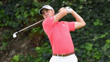 Justin Thomas in action at last week's Genesis Open at Riviera Country Club
