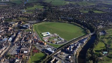 An aerial photograph of Chester racecourse