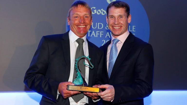 Dedication To Racing Award winner Colin Nutter and Richard Johnson are all smiles