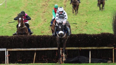 Minella For Value and Declan Queally jump the last to win the open lightweight race