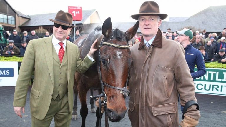 Rich Ricci (left) and Willie Mullins with Djakadam after his win in the John Durkan Memorial Chase last December