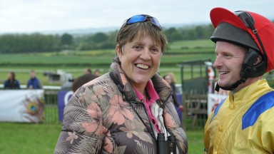 Cherry Coward, pictured with Nick Orpwood, fields The Highlander at Corbridge