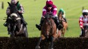 Alpha Des Obeaux (maroon silks) holds leading claims for the RSA Chase at Cheltenham next month