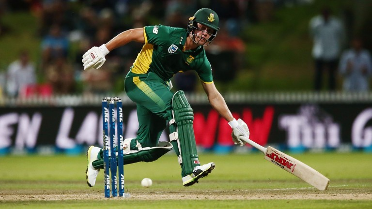South Africa's AB de Villiers increases his tally during the first ODI