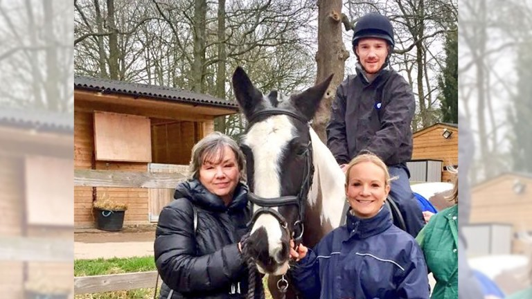 Freddy Tylicki with his mother Irene and sister Madeleine