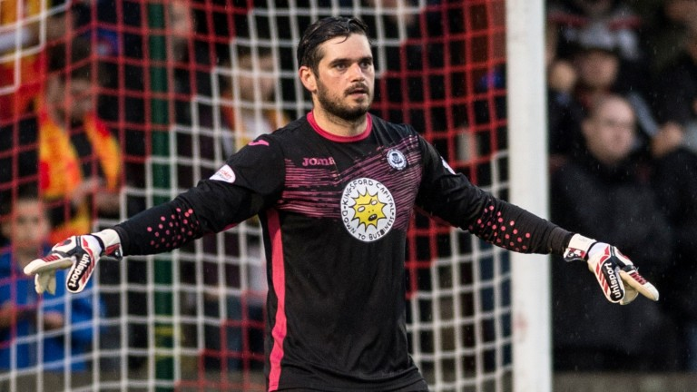 Partick Thistle goalkeeper David Crawford in Betfred League Cup action